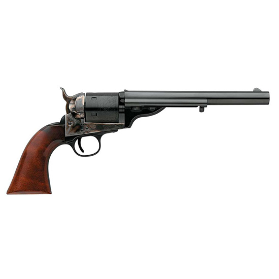 Taylors and Company 0916 1872 Open-Top Single 45 Colt (LC) 7.5 6rd Walnut Army Sized Grips Blued in.
