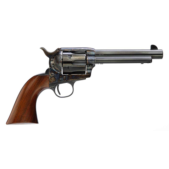 Taylors and Company 555149 1873 Cattleman Gunfighter Single 45 Colt (LC) 4.75 6 rd Walnut Army Sized Grip CCH Frame Blued in.
