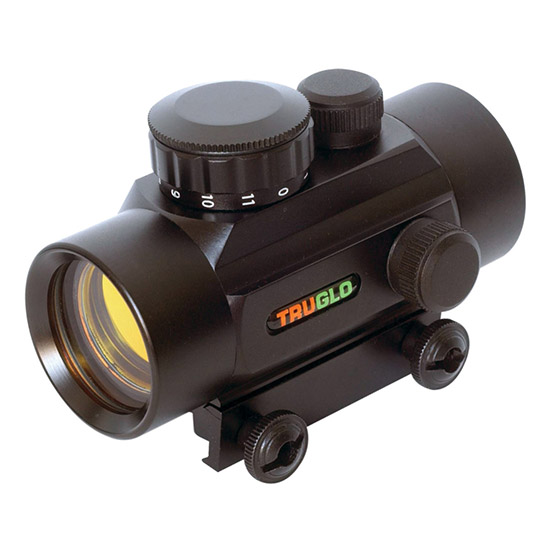 Truglo TG8030P Traditional 1x 30mm Obj Unlimited Eye Relief 5 MOA Black Clamshell Pkg
