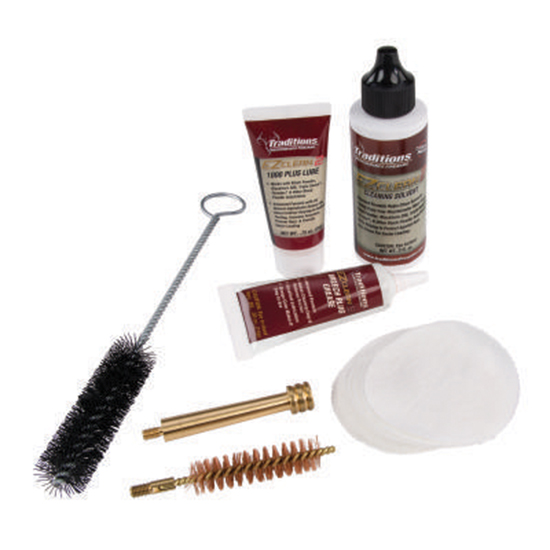 Traditions A3960 EZClean2 Muzzleloader Cleaning Kit  Brushes|Cleaner|Patches 7pc