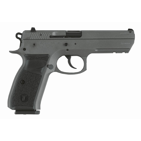 TriStar 85092 T-120 Aluminum Single|Double 9mm Luger 4.7 17+1 Black Polymer Grip Gray Cerakote in.