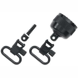 Uncle Mikes 18202 Mag Cap Swivel Set 1 Black Steel in.