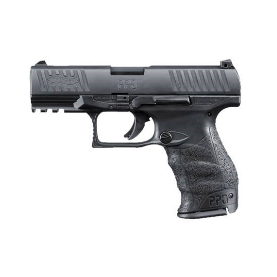 Walther Arms 2796067 PPQ M2 9mm Luger Double 4 10+1 Black Polymer Grip|Frame Grip Black Tenifer Slide in.