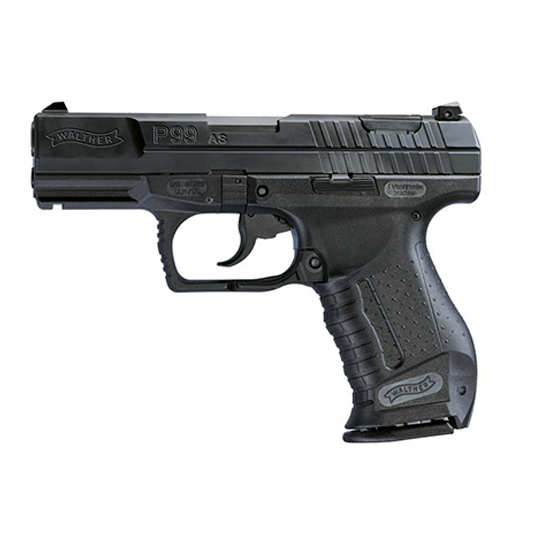 Walther Arms 2796326 P99 *MA Compliant* 9mm Luger Double 4 10+1 Black Polymer Grip Black Slide in.