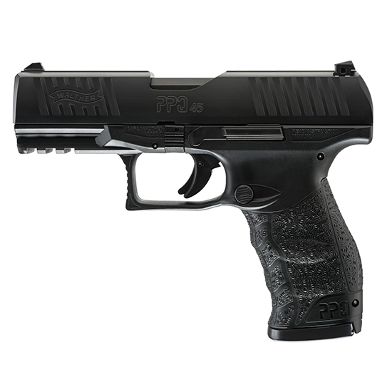 Walther Arms 2807076 PPQ M2 45 Automatic Colt Pistol (ACP) Double 4.25 12+1 Black Polymer Grip|Frame Grip Black Tenifer Slide in.