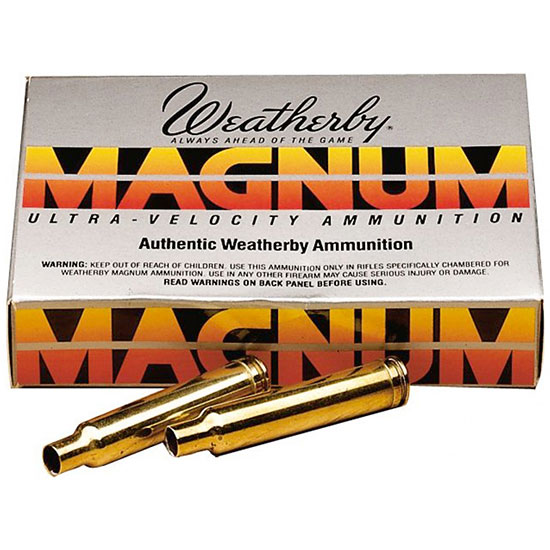 Weatherby BRASS303 Unprimed Brass 30-378 Weatherby Magnum Lightweight 20 Per Box
