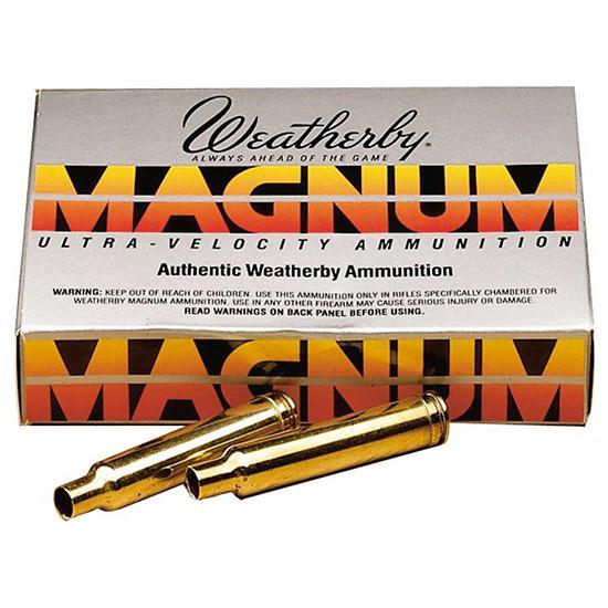 Weatherby BRASS375 Unprimed Brass 375 Weatherby Magnum Lightweight 20 Per Box