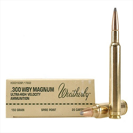 Weatherby H300165BT 300 Weatherby Magnum Spire Point 165 GR 20Rds