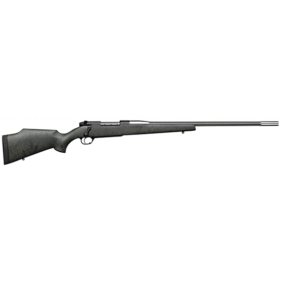 Weatherby MARS65CMR4O Mark V Accumark RC Bolt 6.5 Creedmoor 24 4+1 Synthetic Gray w|Black Web Stk Stainless Steel in.