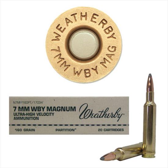 Weatherby N7MM160PT 7mm Weatherby Magnum Nosler Partition 160 GR 20Rds