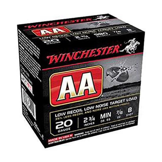 Winchester Ammo AA20FL8 AA Target Loads 20 Gauge 2.75 7|8 oz 8 Shot 25 Bx| 10 in.