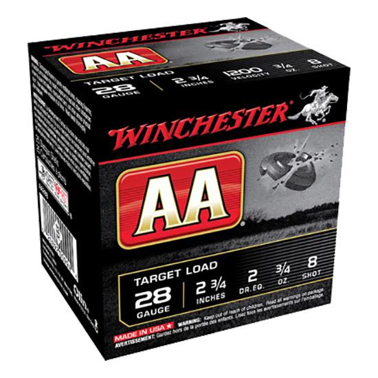 Winchester Ammo AA288 AA Target Loads 28 Gauge 2.75 3|4 oz 8 Shot 25 Bx| 10 Cs in.