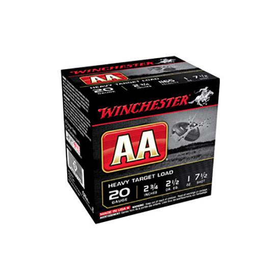 Winchester Ammo AAH207 AA Target Loads 20 Gauge 2.75 1 oz 7.5 Shot 25 Bx| 10 Cs in.