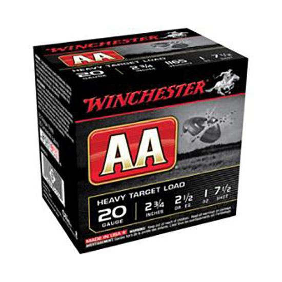 Winchester Ammo AAH208 AA Target Loads 20 Gauge 2.75 1 oz 8 Shot 25 Bx| 10 Cs in.