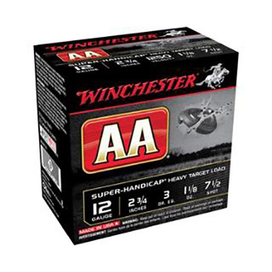 Winchester Ammo AAHA127 AA Target Loads 12 Gauge 2.75 1-1|8 oz 7.5 Shot 25 Bx| 10 in.