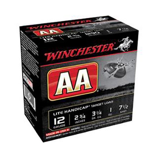 Winchester Ammo AAHLA128 AA Target Loads 12 Gauge 2.75 1 oz 8 Shot 25 Bx| 10 Cs in.