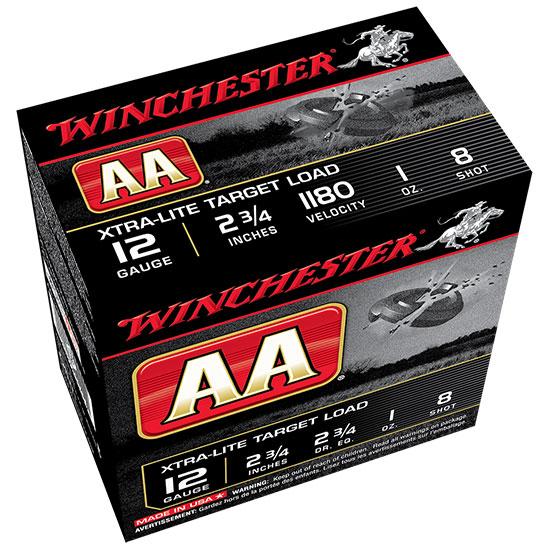 Winchester Ammo AAL128 AA Target Loads 12 Gauge 2.75 in.  1 oz 8 Shot 25 Bx| 10 Cs