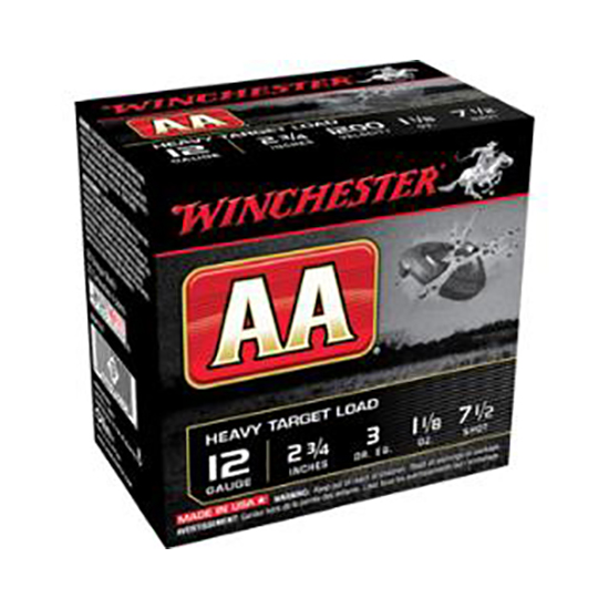 Winchester Ammo AAM127 AA Target Loads 12 Gauge 2.75 1-1|8 oz 7.5 Shot 25 Bx| 10 Cs in.