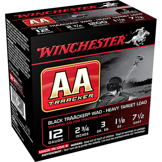 Winchester Ammo AAM127TB AA TrAAcker 12 Gauge Clear Sky Training Heavy 2.75 1-1|8 oz 7.5 Shot 25 Bx| 10 Cs in.