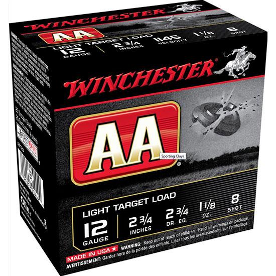 Winchester Ammo AASC129 AA Target Loads 12 Gauge 2.75 in.  1-1|8 oz 9 Shot 25 Bx| 10 Cs