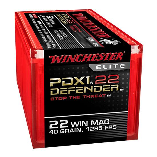 Winchester Ammo S22MPDX1 Elite 22 Winchester Magnum Rimfire (WMR) 45 GR Jacketed Hollow Point 50 Bx  20 Cs