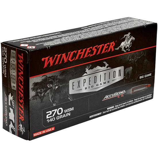 Winchester Ammo S270WSMCT Supreme 270 Winchester Short Magnum 140 GR AccuBond CT 20 Bx| 10 Cs