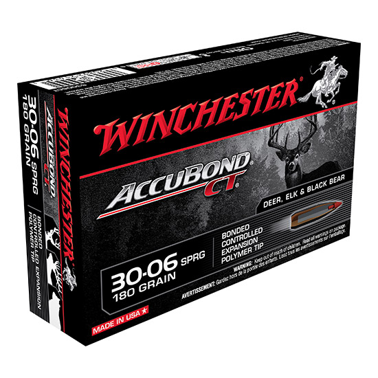 Winchester Ammo S3006CT Supreme 30-06 Springfield 180 GR AccuBond CT 20 Bx| 10 Cs
