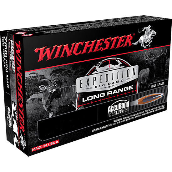 Winchester Ammo S3006LR Expedition 30-06 Springfield 190 GR AccuBond 20 Bx| 10 Cs