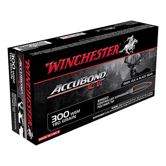 Winchester Ammo S300WSMCT Supreme 300 Winchester Short Magnum 180 GR AccuBond CT 20 Bx| 10 Cs