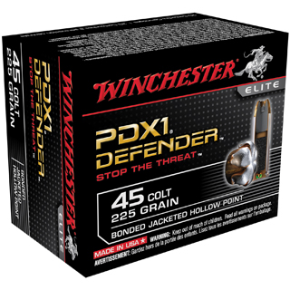 Winchester Ammo S45CPDB Supreme Elite 45 Colt (LC) 225 GR Bonded Jacket Hollow Point 20 Bx| 10 Cs