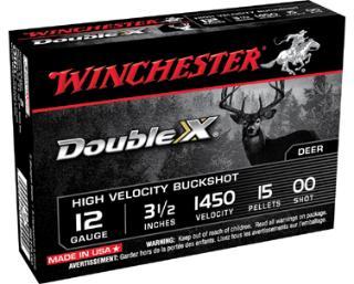 Winchester Ammo SB1200 Supreme Hi-Velocity Buckshot 12 Gauge 2.75 9 Pellets 00 Buck Shot 5 Bx| 50 Cs in.