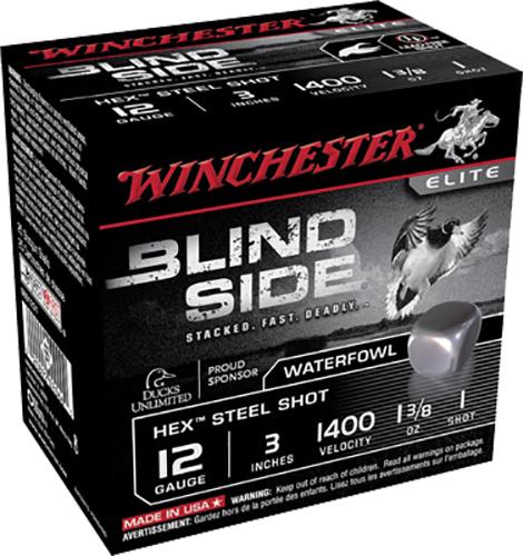 Winchester Ammo SBS1231 Blindside 12 Gauge 3 1-3|8 oz 1 Shot 25 Bx|10 Cs in.