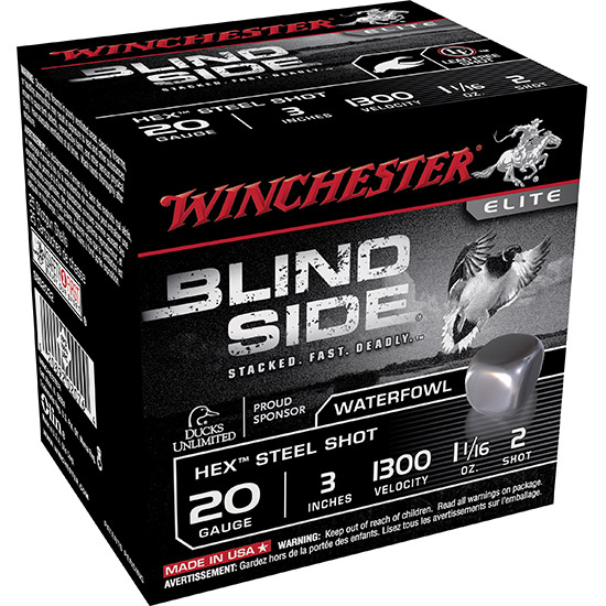 Winchester Ammo SBS2032 Blindside 20 Gauge 3 1-1|16 oz 2 Shot 25 Bx| 10 Cs in.
