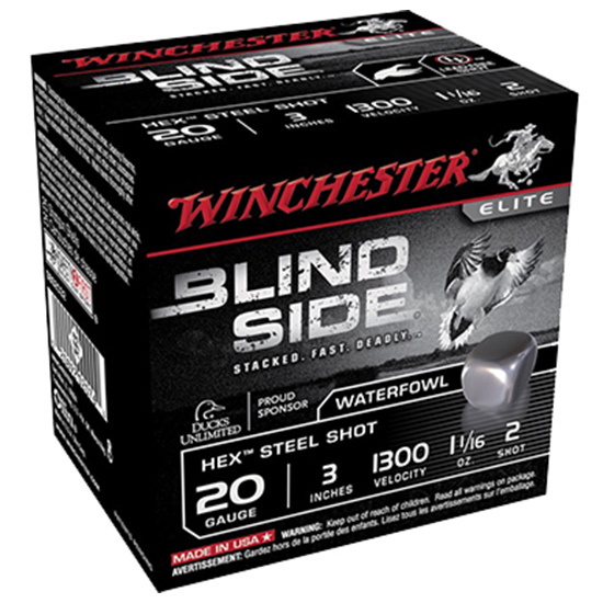 Winchester Ammo SBS203HV3 Blindside 20 Gauge 3 7|8 oz 3 Shot 25 Bx| 10 Cs in.