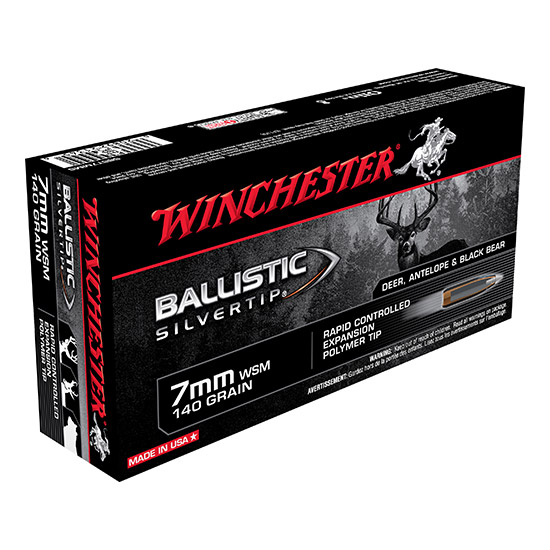 Winchester Ammo SBST7MMS Supreme 7mm Winchester Short Magnum 140 GR Ballistic Silvertip 20 Bx|10 Cs