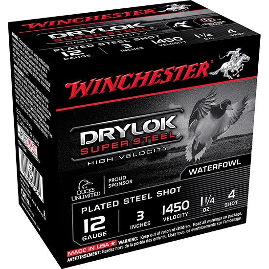 Winchester Ammo SSH1234 Supreme Hi-Velocity 12 Gauge 3 1-1|4 oz 4 Shot 25 Bx| 10 Cs in.