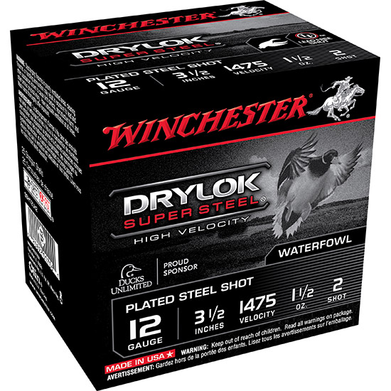 Winchester Ammo SSH12LH2 Drylock Super Steel 12 Gauge 3.5 1-1|2 oz 2 Shot 25 Bx| 10 Cs in.