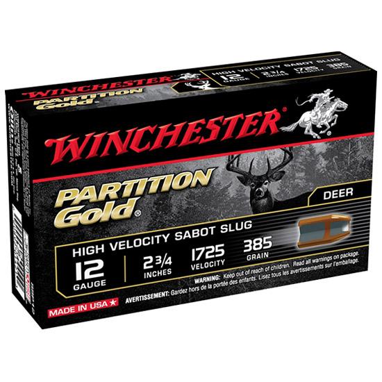 Winchester Ammo SSP12 Supreme 12 Gauge 2.75 385 GR Sabot Slug Shot 5 Bx| 20 Cs in.