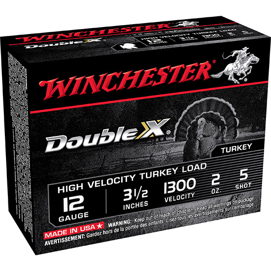 Winchester Ammo STH12355 Double X Turkey 12 Gauge 3.5 2 oz 5 Shot 10 Bx|10 Cs in.