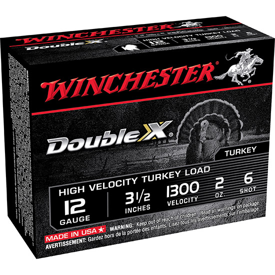 Winchester Ammo STH12356 Double X Turkey 12 Gauge 3.5 2 oz 6 Shot 10 Bx| 10 Cs in.
