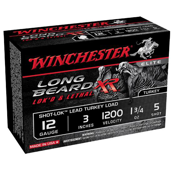 Winchester Ammo STLB1235 Long Beard XR Shot-Lok Turkey 12 Gauge 3 1-3|4 oz 5 Shot 10 Bx| 10 Cs in.
