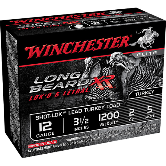 Winchester Ammo STLB12L5 Long Beard XR Shot-Lok Turkey 12 Gauge 3.5 2 oz 5 Shot 10 Bx| 10 Cs in.