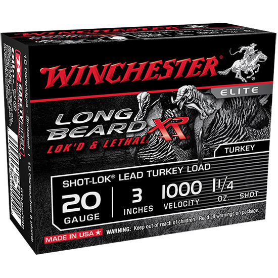 Winchester Ammo STLB2035 Long Beard XR 20 Gauge 3 1-1|4 oz 5 Shot 10 Bx| 10 in.