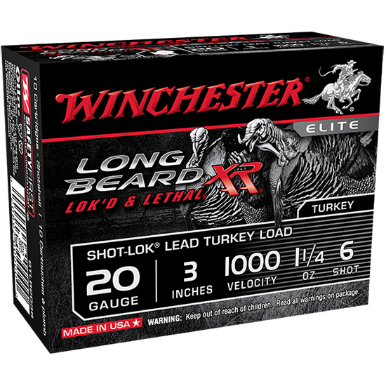 Winchester Ammo STLB2036 Long Beard XR 20 Gauge 3 1-1|4 oz 6 Shot 10 Bx| 10 in.