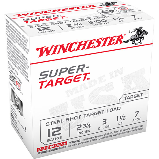 Winchester Ammo TRGT12S7 Super Target 12 Gauge 2.75 1-1|8 oz 7 Shot 25 Bx| 10 Cs in.