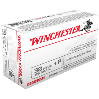 Winchester Ammo USA38JHP Best Value 38 Special +P 125 GR Jacketed Hollow Point 50 Bx| 10 Cs