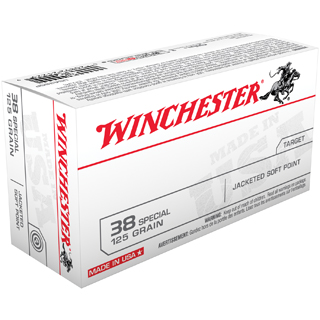 Winchester Ammo USA38SP Best Value 38 Special 125 GR Jacketed Soft Point 50 Bx| 10 Cs