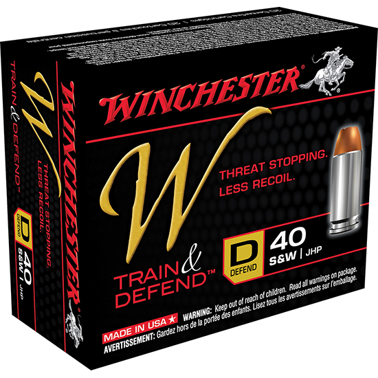 Winchester Ammo W40SWD W 40 Smith & Wesson 180 GR Jacketed Hollow Point 20 Bx| 10 Cs