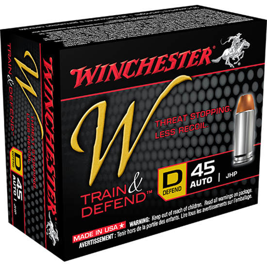 Winchester Ammo W45D W 45 Automatic Colt Pistol (ACP) 230 GR Jacketed Hollow Point 20 Bx| 10 Cs