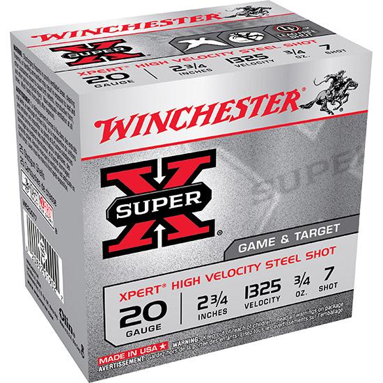 Winchester Ammo WE20GT7 Expert 20 Gauge 2.75 3|4 oz 7 Shot 25 Bx| 10 Cs in.
